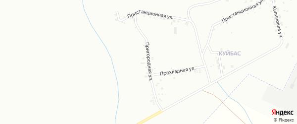 Пригородная улица на карте Магнитогорска с номерами домов
