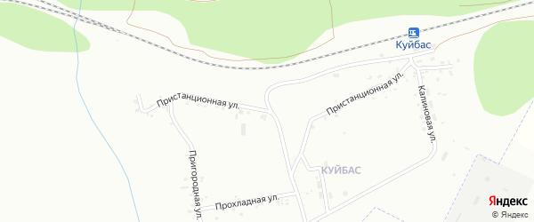 Пристанционная улица на карте Магнитогорска с номерами домов