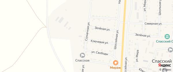Солнечная улица на карте Спасского поселка с номерами домов