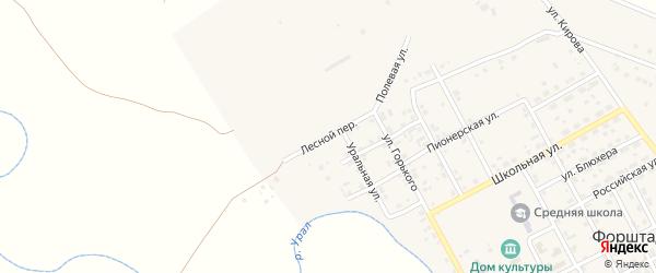 Лесной переулок на карте села Форштадта с номерами домов