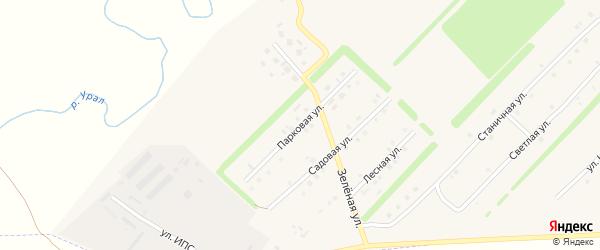 Парковая улица на карте Верхнеуральска с номерами домов