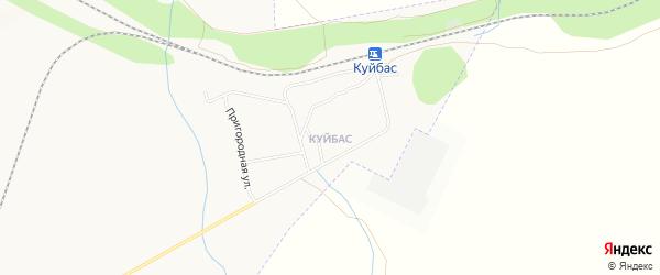 Карта поселка Куйбаса города Магнитогорска в Челябинской области с улицами и номерами домов