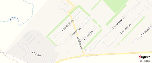 Зеленая улица на карте Верхнеуральска с номерами домов