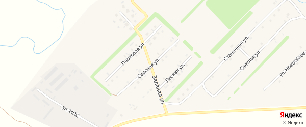 Садовая улица на карте Верхнеуральска с номерами домов