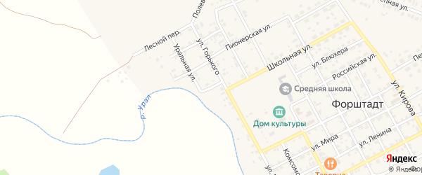 Улица Фрунзе на карте села Форштадта с номерами домов