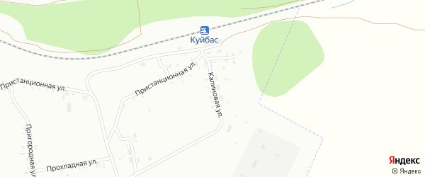 Калиновая улица на карте Магнитогорска с номерами домов
