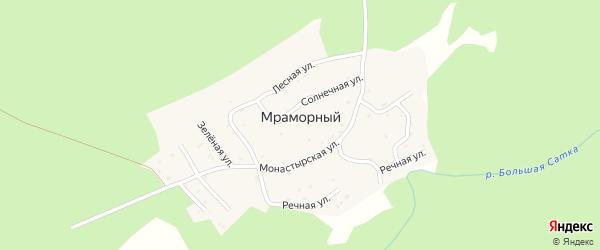 Сосновая улица на карте Мраморного поселка с номерами домов