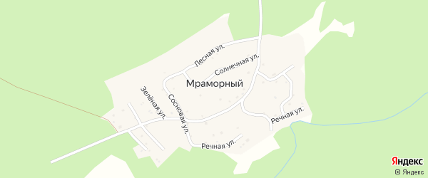 Цветочная улица на карте Мраморного поселка с номерами домов