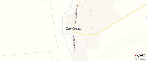 Карта поселка Симбирки в Челябинской области с улицами и номерами домов