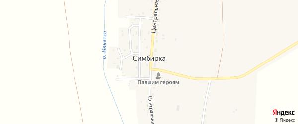 Школьный переулок на карте поселка Симбирки с номерами домов
