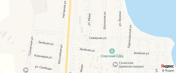 Улица Мира на карте Спасского поселка с номерами домов