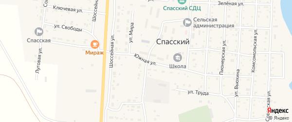 Южная улица на карте Спасского поселка с номерами домов