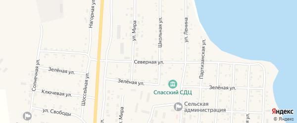 Северная улица на карте Спасского поселка с номерами домов