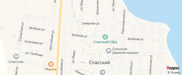 Зеленая улица на карте Спасского поселка с номерами домов