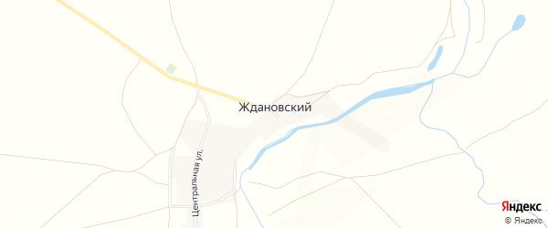 Карта Ждановского поселка в Челябинской области с улицами и номерами домов