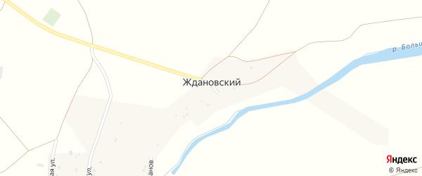 Улица Ветеранов на карте Ждановского поселка с номерами домов