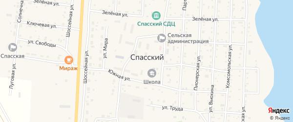 Российская улица на карте Спасского поселка с номерами домов