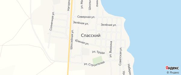Карта Спасского поселка в Челябинской области с улицами и номерами домов