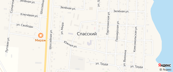 Улица Труда на карте Спасского поселка с номерами домов