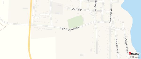 Улица Строителей на карте Спасского поселка с номерами домов