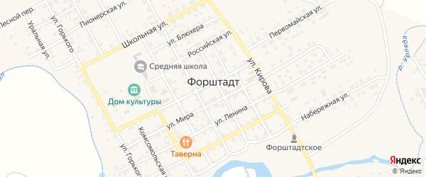 Аэродромная улица на карте села Форштадта с номерами домов