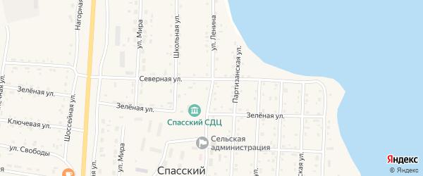 Улица Ленина на карте Спасского поселка с номерами домов
