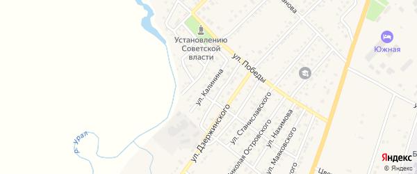 Улица Калинина на карте Верхнеуральска с номерами домов