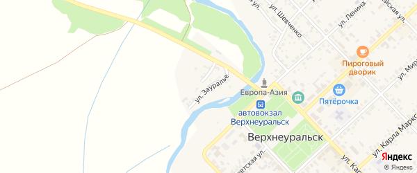 Улица Зауралье на карте Верхнеуральска с номерами домов