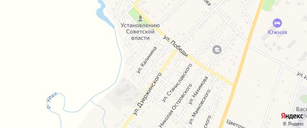 Улица Горького на карте Верхнеуральска с номерами домов