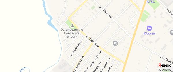 Улица Победы на карте Верхнеуральска с номерами домов