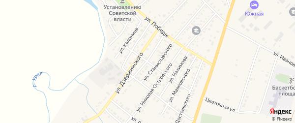 Улица Чайковского на карте Верхнеуральска с номерами домов