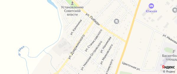 Улица Куйбышева на карте Верхнеуральска с номерами домов