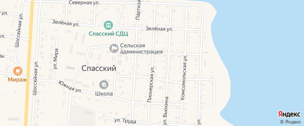 Пионерская улица на карте Спасского поселка с номерами домов