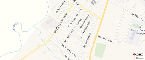 Улица Островского на карте Верхнеуральска с номерами домов