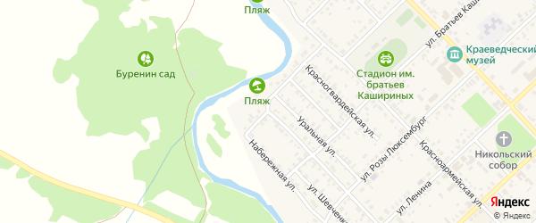 Набережная улица на карте Верхнеуральска с номерами домов