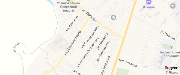 Улица Станиславского на карте Верхнеуральска с номерами домов