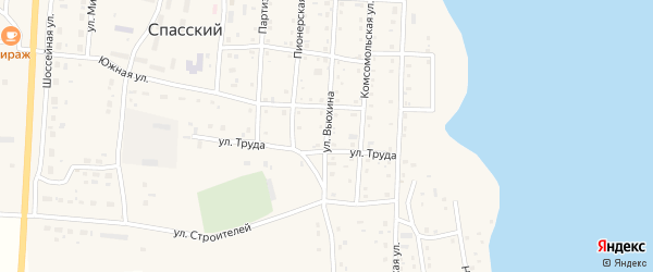 Улица Вьюхина на карте Спасского поселка с номерами домов