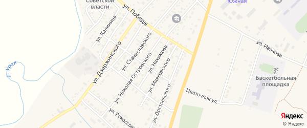 Улица Нахимова на карте Верхнеуральска с номерами домов