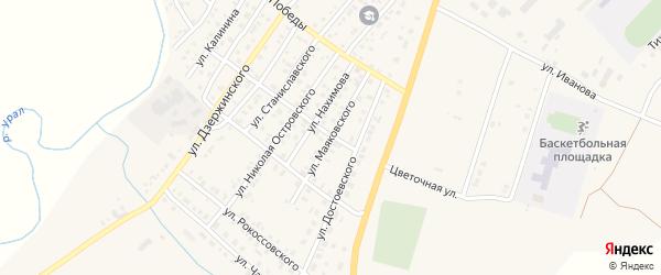 Улица Маяковского на карте Верхнеуральска с номерами домов