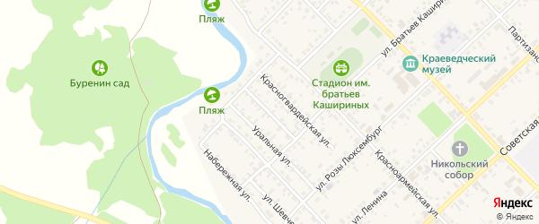 Малопартизанская улица на карте Верхнеуральска с номерами домов