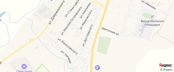 Улица Достоевского на карте Верхнеуральска с номерами домов