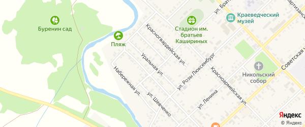 Уральная улица на карте Верхнеуральска с номерами домов