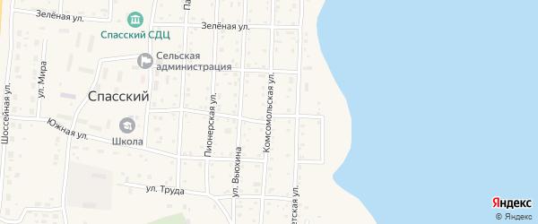 Комсомольская улица на карте Спасского поселка с номерами домов