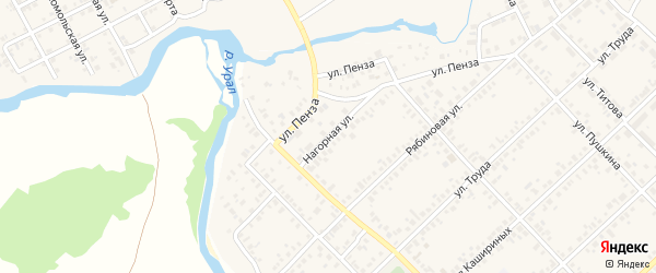 Нагорная улица на карте Верхнеуральска с номерами домов