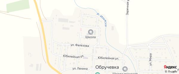 Школьная улица на карте села Обручевки с номерами домов