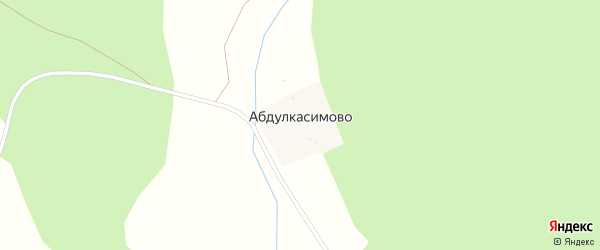 Центральная улица на карте деревни Абдулкасимово с номерами домов