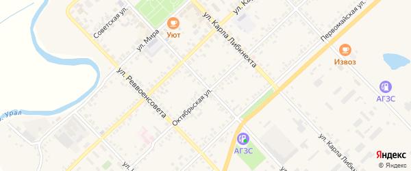 Улица Еремина на карте Верхнеуральска с номерами домов