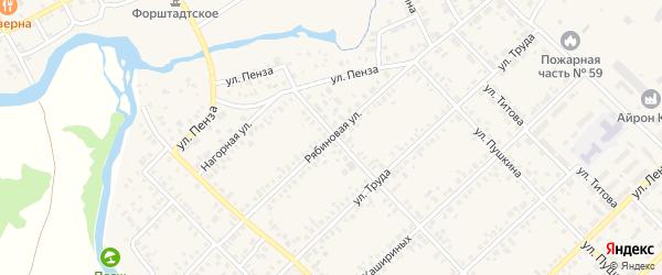 Рябиновая улица на карте Верхнеуральска с номерами домов