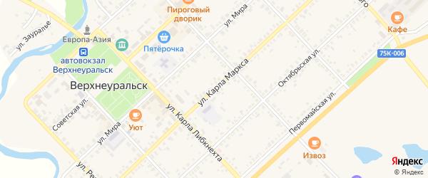 Улица Карла Маркса на карте Верхнеуральска с номерами домов