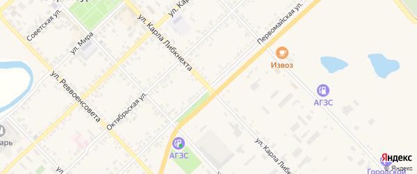 Улица Карла Либкнехта на карте Верхнеуральска с номерами домов